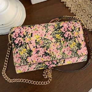 New 🌸 floral Tory Burch crossbody / wallet